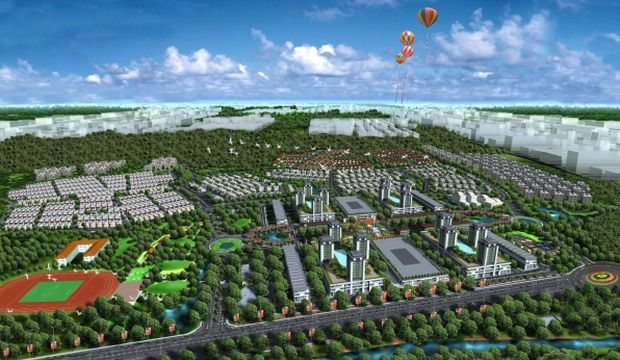 File pic shows an artist's impression of an S P Setia project at EcoLakes at MyPhuoc.