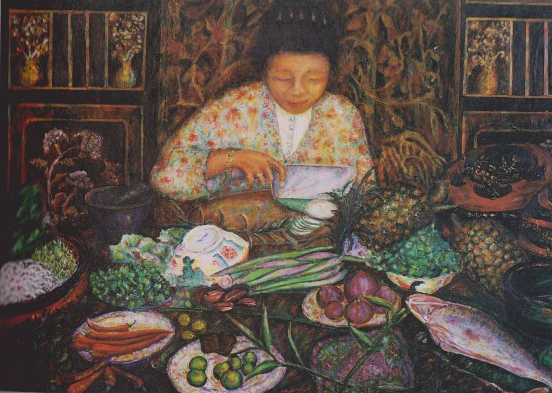 Lee Goh's 'Nyonya's Secret Recipe' (oil on canvas, 1990). Photo: Sylvia Lee Goh