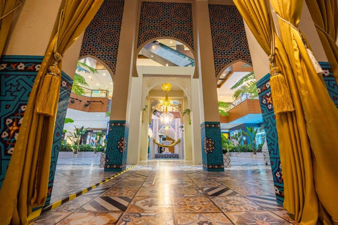 Intricate details on the walls of Gurney Plaza's version of a Moroccan summer palace will delight visitors and shoppers.