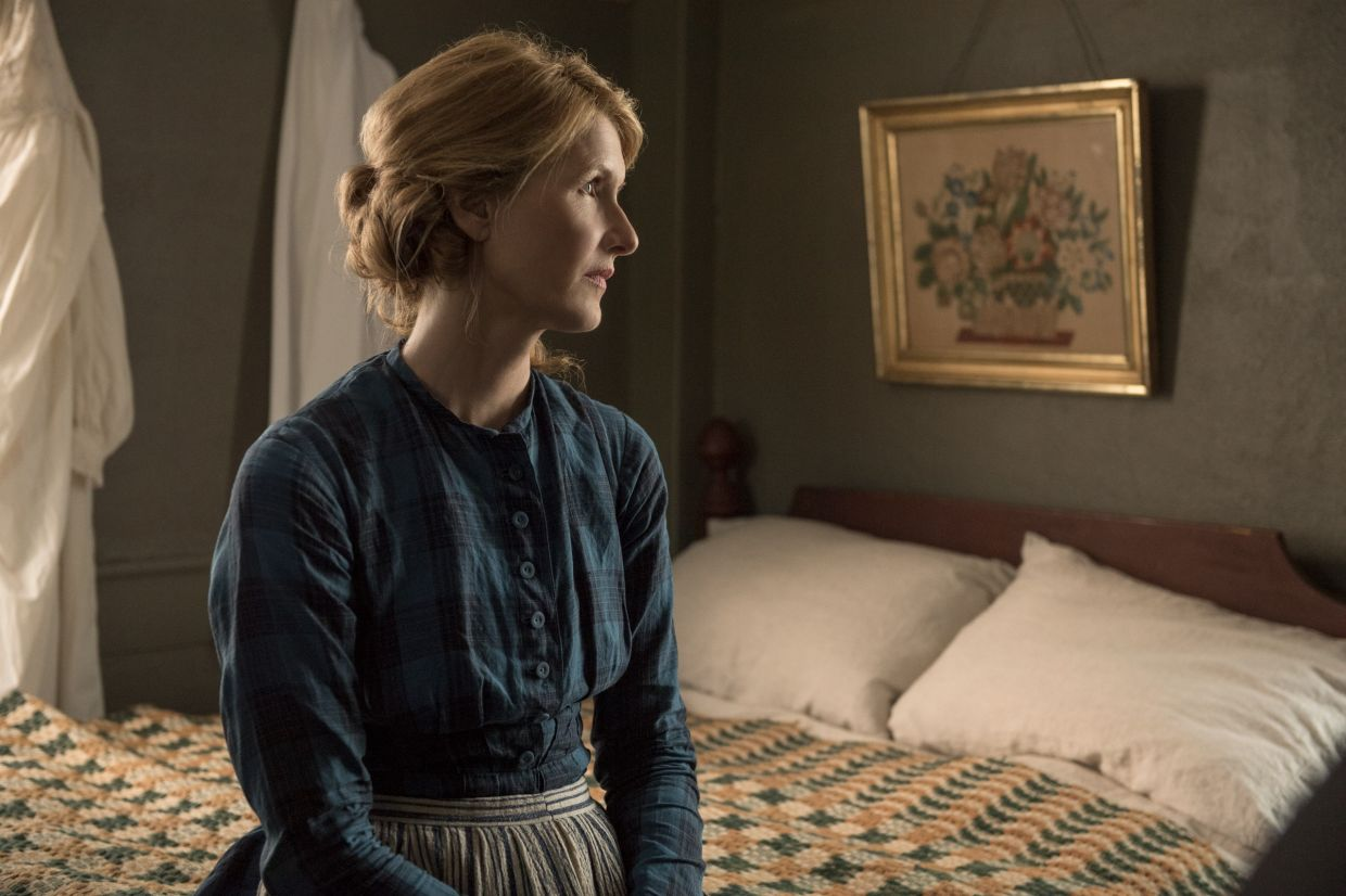 Marmee (Laura Dern) tries her best to keep her anger at bay in 'Little Women'.