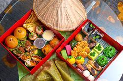 Array of takeaway meals for sahur, buka puasa and Raya