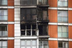 Firefighters tackle blaze at 19-storey London tower block