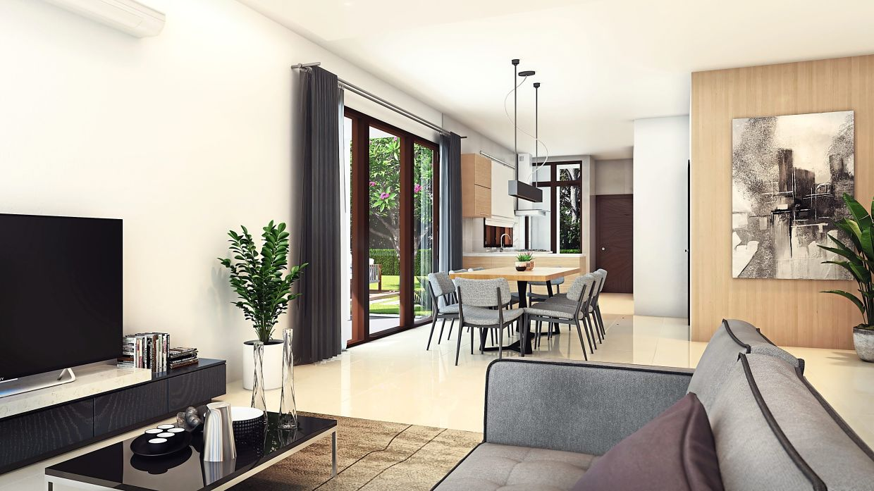 The residential units' high ceiling makes it easier to cool the homes.