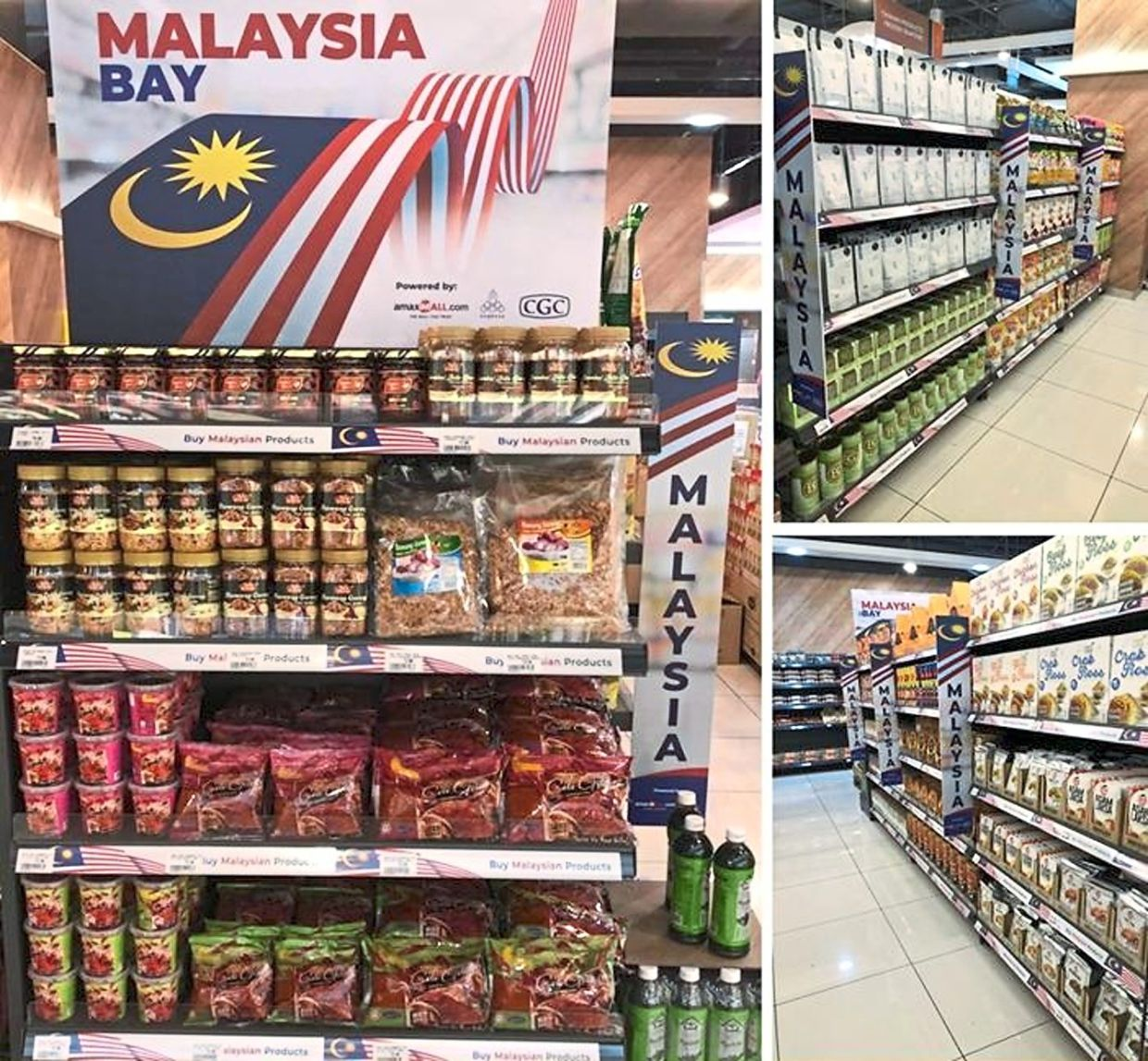 Easing access into new markets: A CGC customer's products on display in the Singapore market. There are more than 60 products from 10 customers that have successfully penetrated a halal supermarket in Westgate, Singapore.
