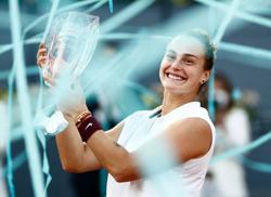 Tennis-Sabalenka downs world number one Barty to claim Madrid crown