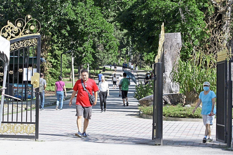 Visitors having a stroll at Penang Botanic Gardens. — CHAN BOON KAI/The Star