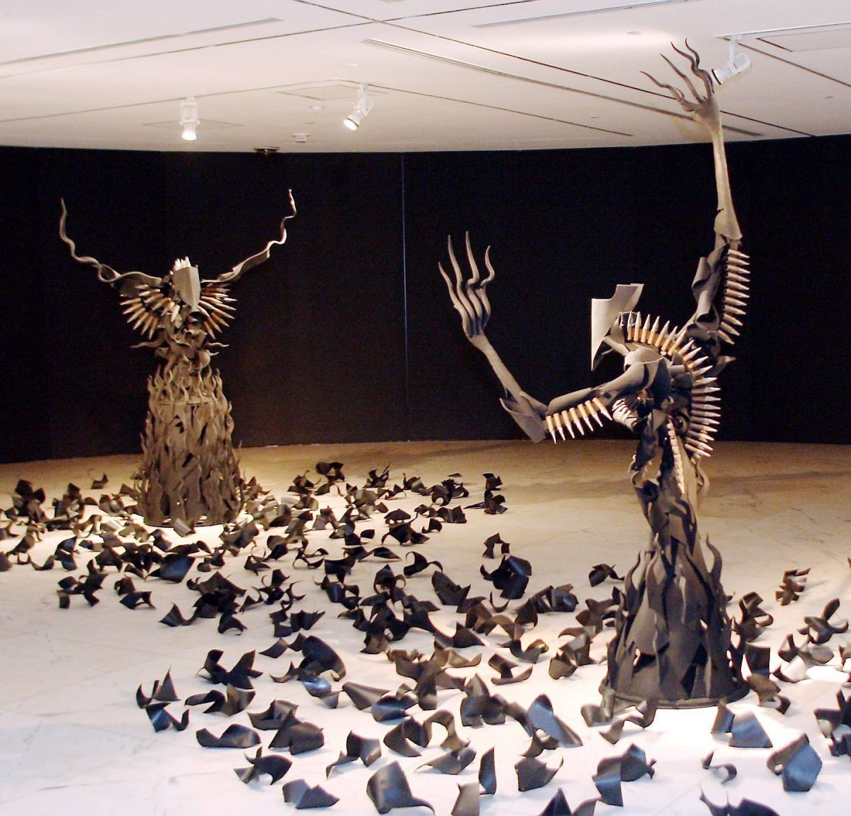 Renowned sculptor Raja Shariman's metal works from his 'Rhythm Of The 21st Century – Monologues Of Raja Shariman' show at Galeri Petronas in 2009. Photo: The Star