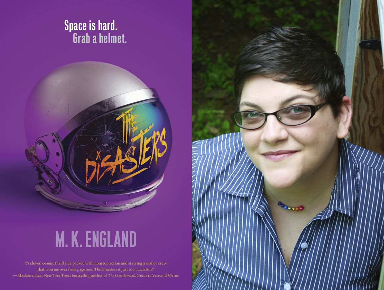 Author M.K. England, whose debut novel 'The Disasters' is in development for the CW network. Photo: AP