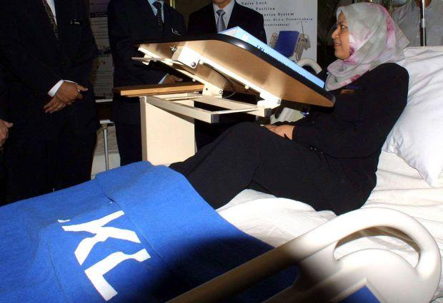 LKL's hospital bed