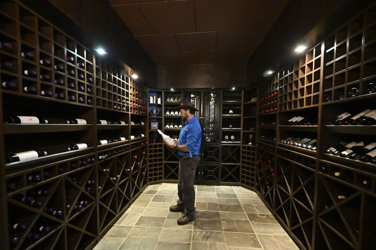 Kolhlberg's Winery Manager Helmut Kohlberg in a wine cellar at the Kolhlberg Winery, in Valle de la Concepcion community, some 30 km from Tarija, Bolivia. Photo: AFP