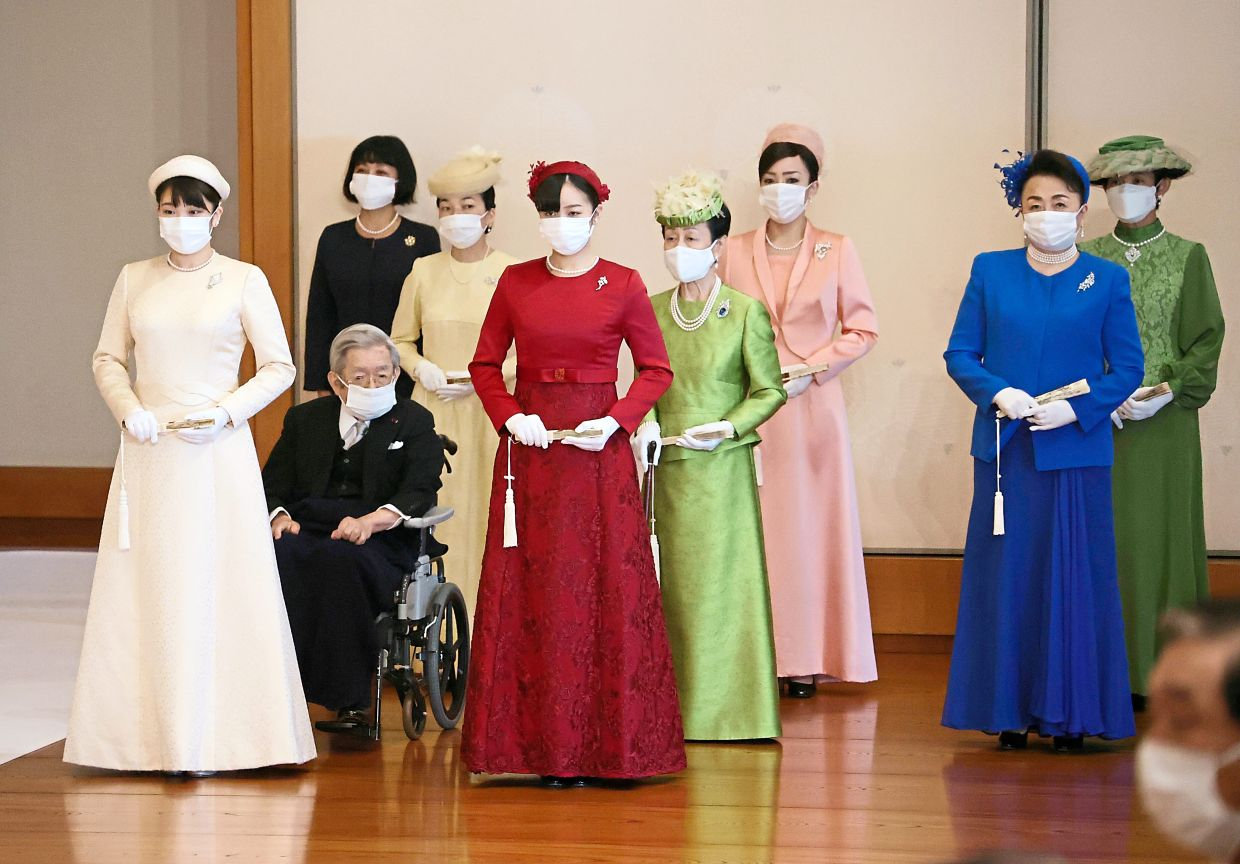Members of the Japanese imperial family attending the
