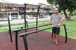 'Instal age-friendly gym equipment at playground'