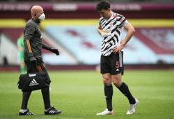 Soccer-Man Utd sweating over Maguire availability for Europa final