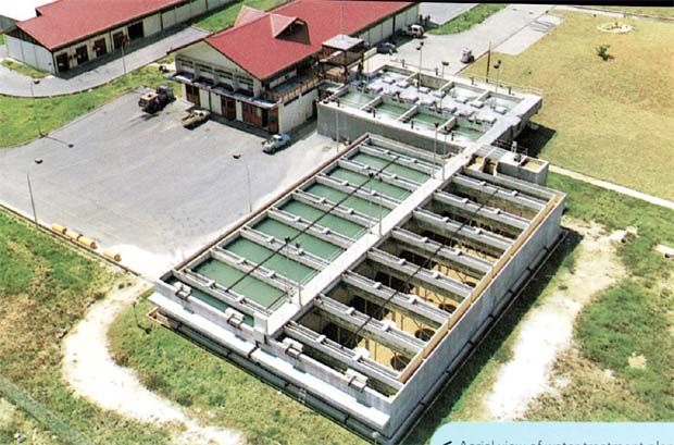 Salcon is principally involved in water and wastewater engineering with a key focus on the investment, design, construction, commissioning, operation and maintenance of water and wastewater treatment plants and ancillary facilities. (File pic shows a Salcon water treatment plant)