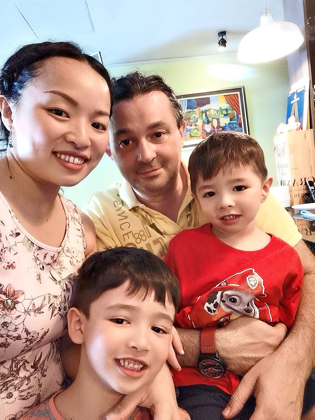 The couple has strict ground rules for their sons: Study first, play later. Photo: Jessica Ong