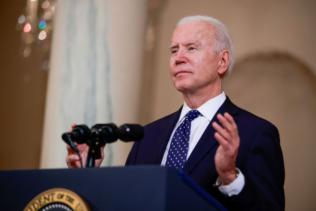 """In an announcement by the White House, Biden, the Democratic president said the suspension imposed by his Republican predecessor \""""does not advance the interests of the United States.\"""""""
