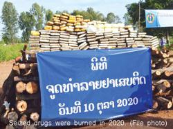 Laos: Harsher penalties demanded for officers involved in drug offences