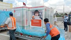 Cambodia confirms another 350 new Covid-19 cases as another 500,000 doses of Sinovac vaccine arrive in Kingdom