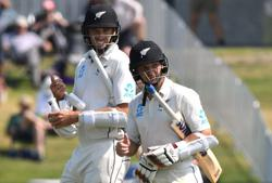 Cricket-New Zealand cricketers land for biosecure tour of England