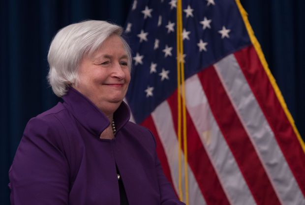 """US Treasury Secretary Janet Yellen said """"interest rates will have to rise somewhat to make sure that the US economy doesn't overheat"""" and later clarified that no inflation problem was brewing."""