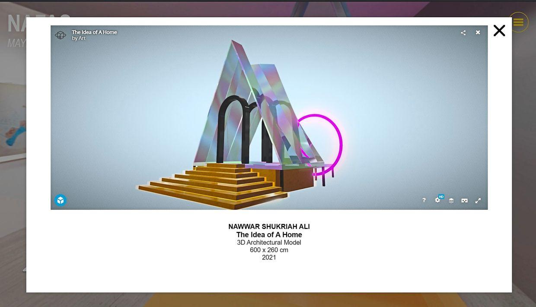 Nawwar Shukriah Ali's The Idea Of A Home (3D architectural model, 2021). Photo: Handout