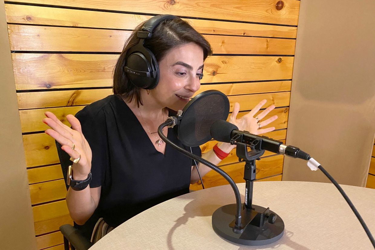 Physician Sandrine Attallah has had to navigate mockery and misogyny when discussing sex on TV. Photo: AFP/Hakawati Network
