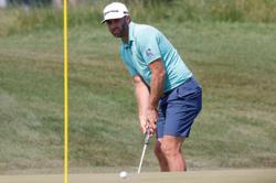 Golf-Johnson says knee ready to go for PGA Championship