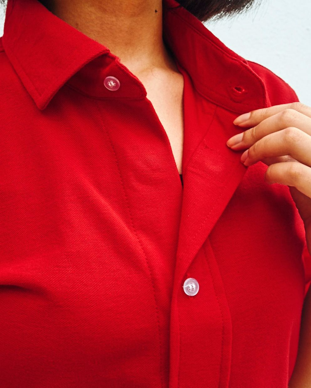 Usha's magnetic button polo T-shirts were tested on people with dexterity issues to ensure they could wear and remove the T-shirts easily.