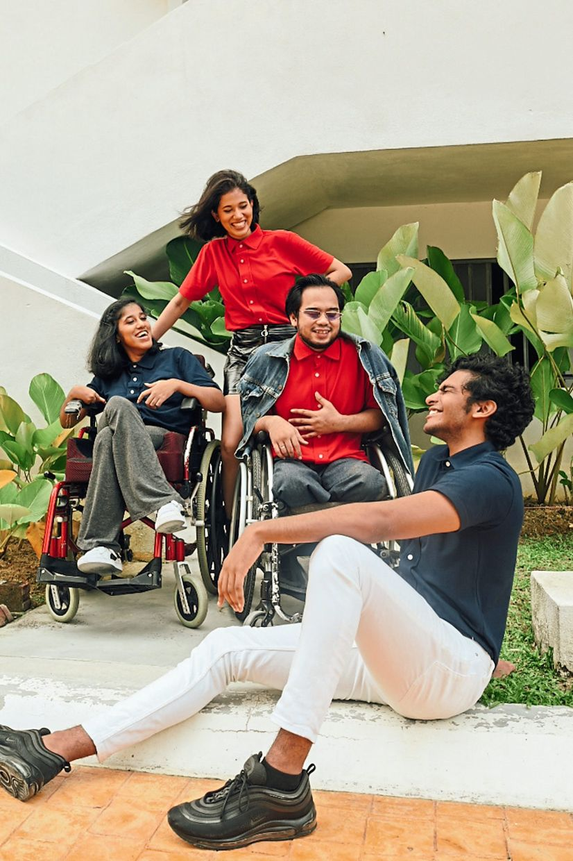 With adaptive clothing, people with physical disabilities can slip on and slip off their outfits easily.