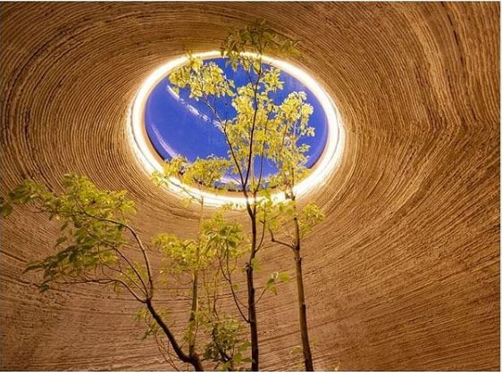 TECLA – Technology and Clay, the first eco-sustainable house 3D printed from raw earth. Photo: Mario Cucinella Architects/Instagram