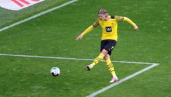 Soccer-Haaland double earns Dortmund win over Leverkusen in season finale
