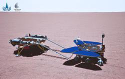 'Zhurong' roving around Mars surface