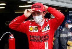 Motor racing-Ferrari detect no serious damage to Leclerc's gearbox