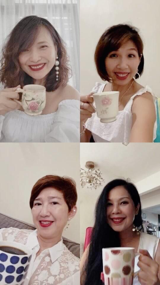 The ladies' first virtual tea session carried the