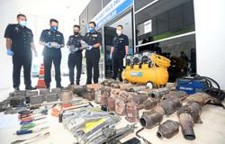 Vehicle parts thieves exhaust their luck