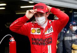 Motor racing-Ferrari confirm Leclerc's crash led to driveshaft failure