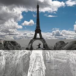 WATCH: French street artist JR creates Eiffel Tower optical illusion