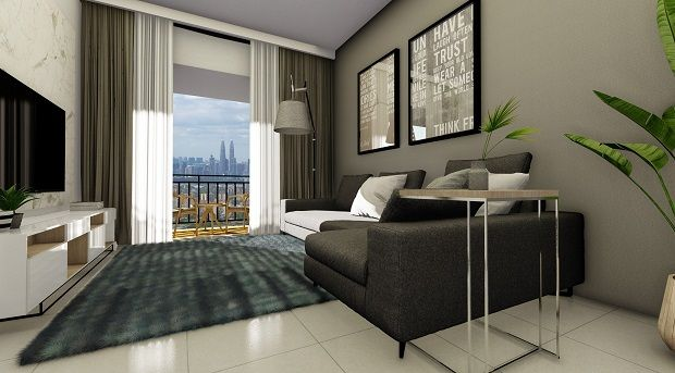 The 950sqft units come in two 'mirror flip' layouts to suit growing families, young professionals and KL residents.
