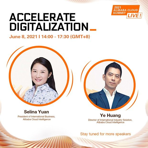 The summit will kick off with an introduction by Alibaba Cloud Intelligence International Business Unit general manager Selina Yuan (left), followed by an industry solutions launch by Alibaba Cloud Intelligence International Industry Solution Director Ye Huang (right),