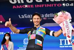 Cycling-Bettiol rides to solo victory on longest Giro stage, Bernal retains lead