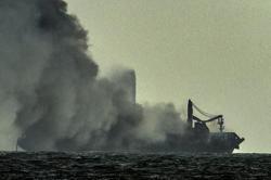 Sri Lanka facing marine disaster from Singapore registered burning ship, says official