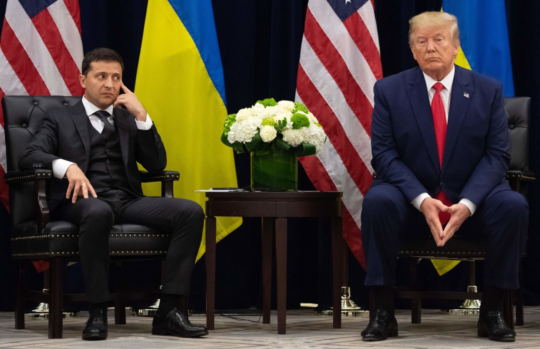As a former comedian, Ukrainian President Volodymyr Zelensky (left) might understand Darpa's latest invention. – AFP
