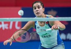 Olympics-Badminton champion Marin withdraws from Tokyo due to knee injury