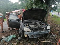 Man killed after car crashes into tree at Pasir Gudang Highway