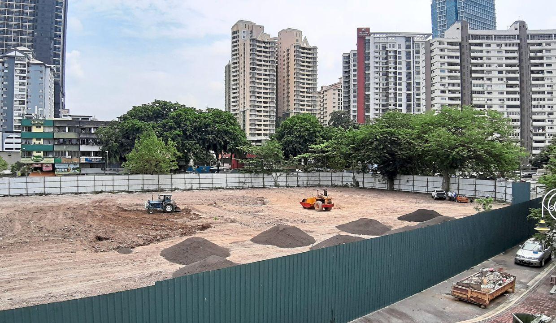 The former DBKL sports club land in Jalan Tun Sambanthan Brickfields is being cleared.