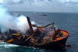 Disaster feared as Singapore-registered chemical cargo ship sinks off Sri Lanka