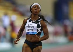 Athletics-Fraser-Pryce sets fastest 100m time in 33 years
