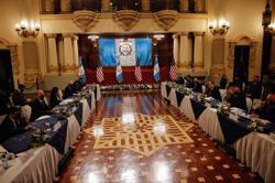 Harris has 'robust' Guatemala graft talks, tells migrants: 'do not come'