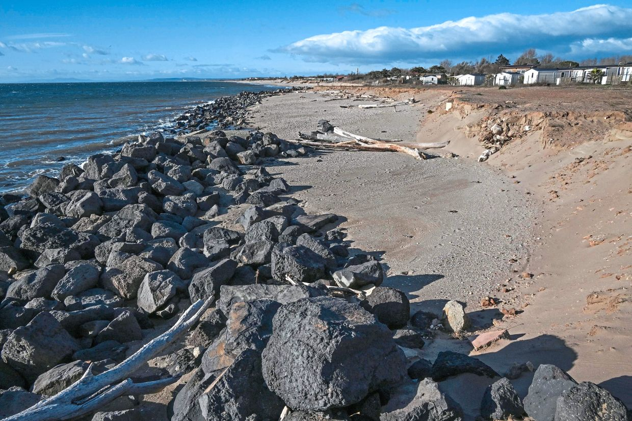 Erosion already affects a quarter of mainland France's coastline, the environment ministry says. — AFP