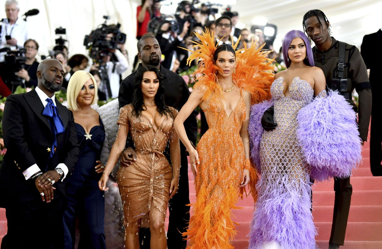 You can always count on this family to wear titillating outfits at events. Photo: AP